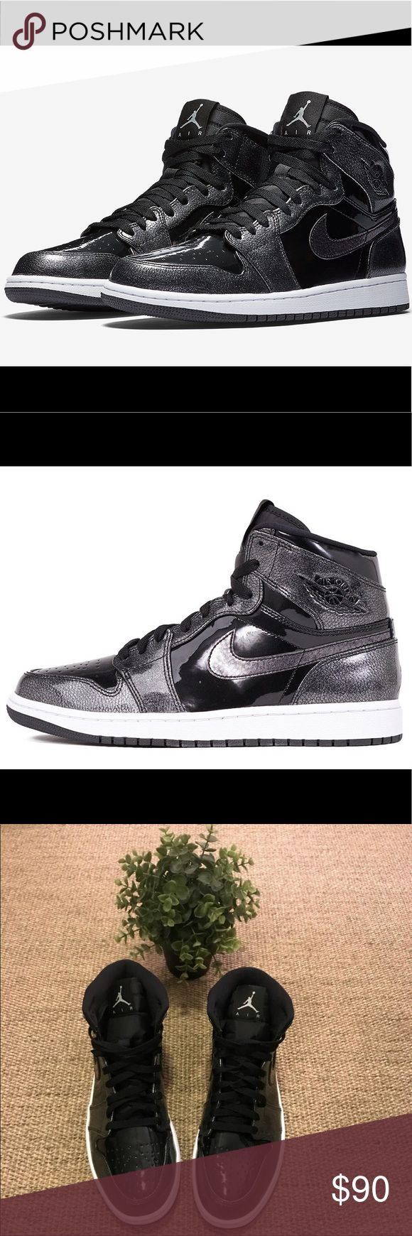 Air Jordan 1 Retro Black High Tops BRAND NEW!!! AMAZING black high top Jordans with white trim. Comes with box! Nike Shoes Sneakers