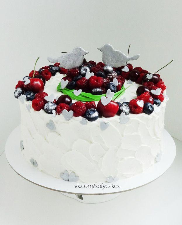 Торт на серебряную свадьбу) - Кондитерская - Babyblog.ru