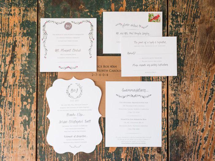 34 best Invitations images on Pinterest North carolina weddings