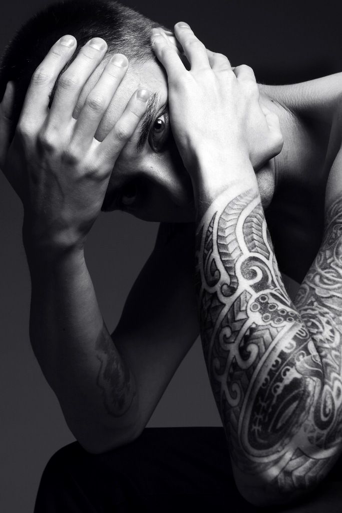 Black and White - Portrait - Tattoo - Ink - Editorial - Black and White - Photography - Pose Idea - Photography Inspiration