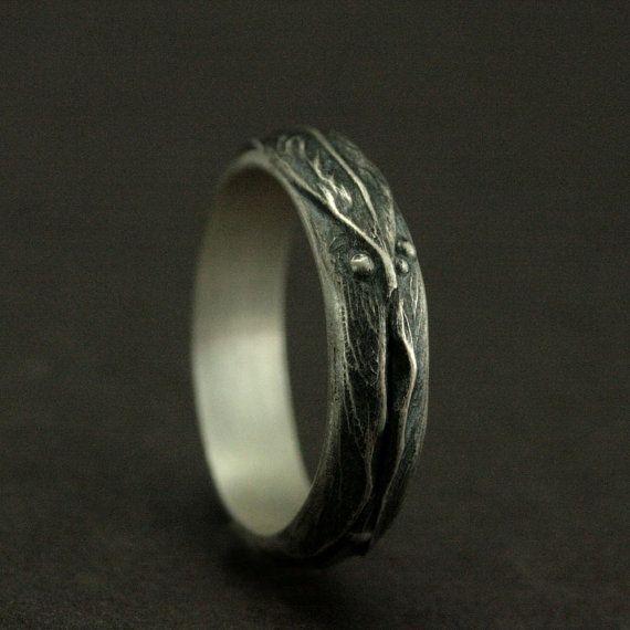 Elven Ring Sterling Silver Leaf Design Ring by RevolutionBA ($40)