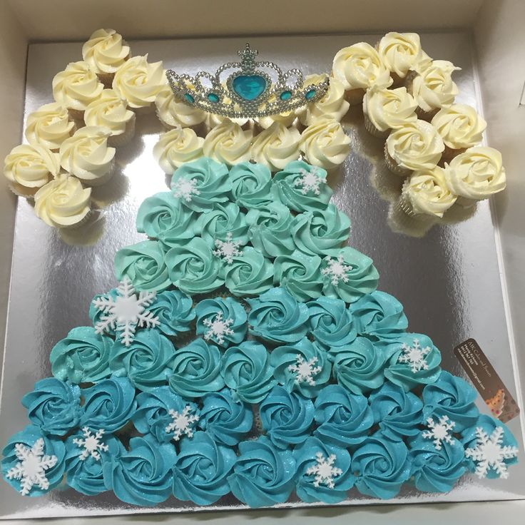 Elsa dress from mini cupcakes for my daughters bday at Kindy