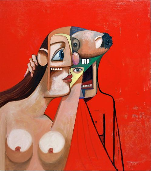 'Woman & Man' (2008) by George Condo