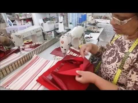 COMO FAZER  SACOLA DE TECIDO E COURVIN - YouTube