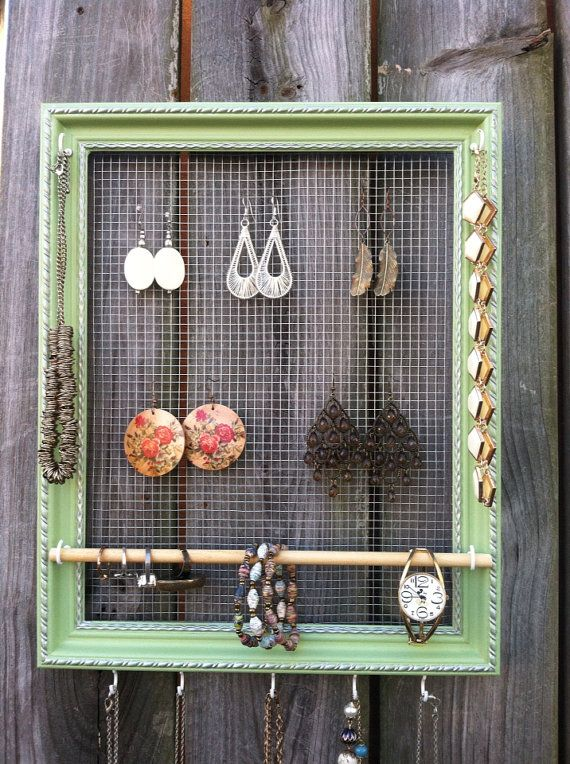 Jewelry Organizer Picture Frame Holder Display by TheAncientBeauty, $35.00