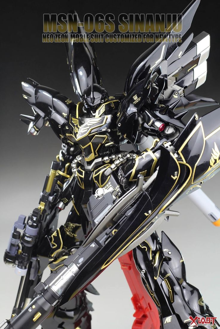 MODELER:  eajunsy   MODEL TITLE:  Dark Sinanju   MODIFICATION TYPE:  custom color scheme, custom details, gloss finish, custom decals   KITS...