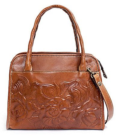 Patricia Nash Paris Floral Embossed Satchel #Dillards