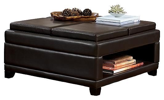 Zenfield Bedroom Bench Basement Family Rooms Hidden Storage And Brown Ottoman