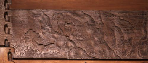 Carved panel depicting trees, owl. http://digitallibrary.usc.edu/cdm/ref/collection/p15799coll61/id/692