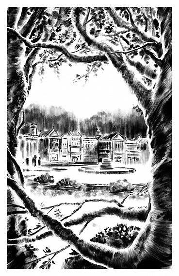 """Una ilustración interior realizada para el libro """"Sucesos en Monte Páramo"""" - Ediciones SM 2015 Louis Sachar - """"Fuzzy Mud"""""""