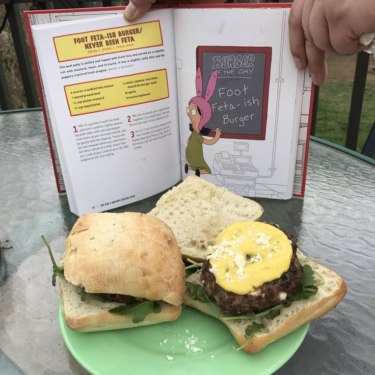 [homemade] bob's Burgers: Foot Feta-Ish Burger/ Never Been Feta