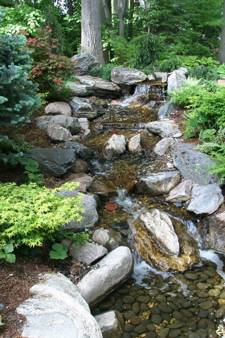 82 best pondless waterfall images on pinterest backyard for Waterfall garden feature