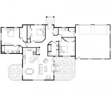 17 best ideas about log home bedroom on pinterest log for Single level cabin floor plans