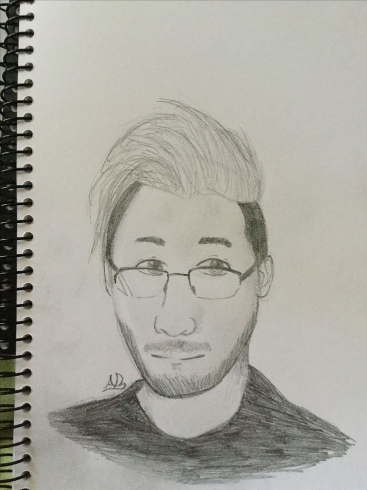 I attempted drawing Markiplier. It's not bad considering I'm crap at drawing portraits, well done me~