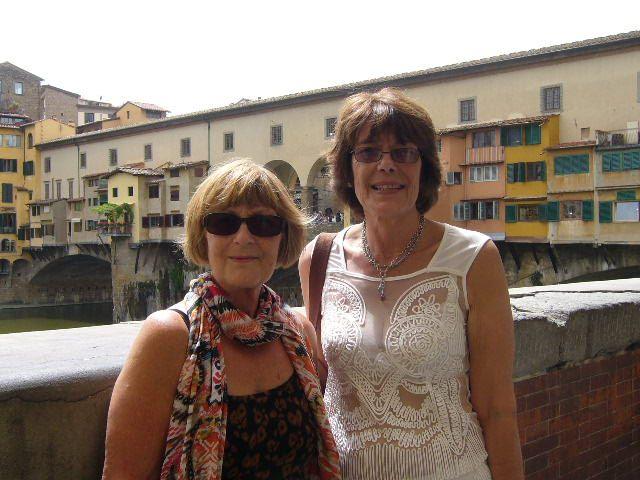 Suze and Sandy Motevechio Bridge Florence