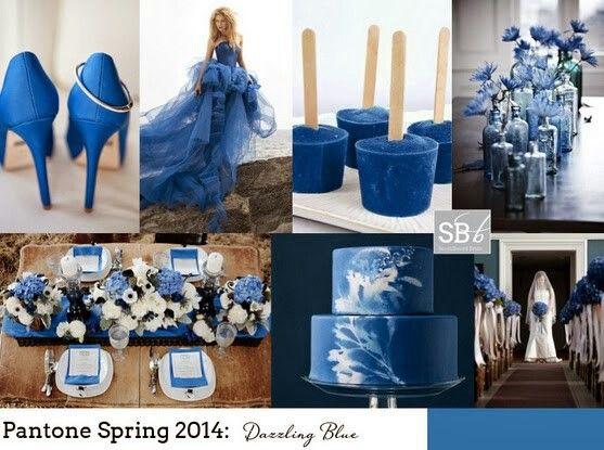 Dazzling blue wedding