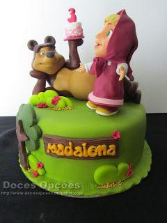Doces Opções: Bolo do 3º aniversário da Madalena com a Masha e o...