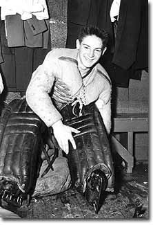 A young Terry Sawchuk, fresh from his home in East Kildonan, Manitoba, embarks on what would be an extraordinary twenty-year NHL journey.