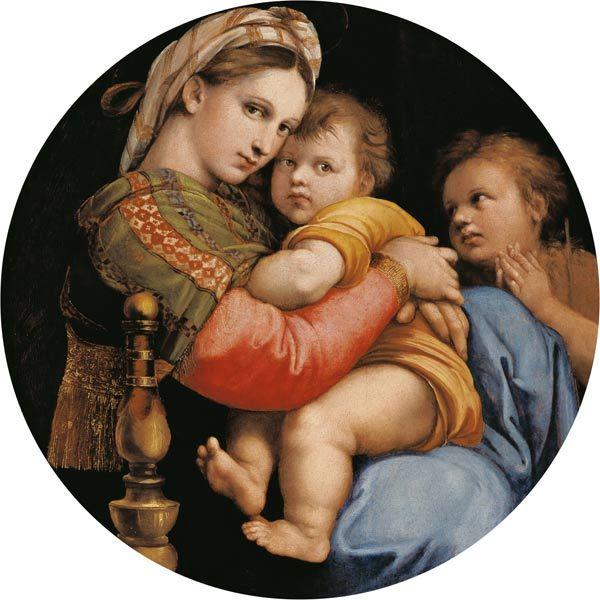 (Raphael) Raffaello Santi - Madonna della Sedia (Tondo)