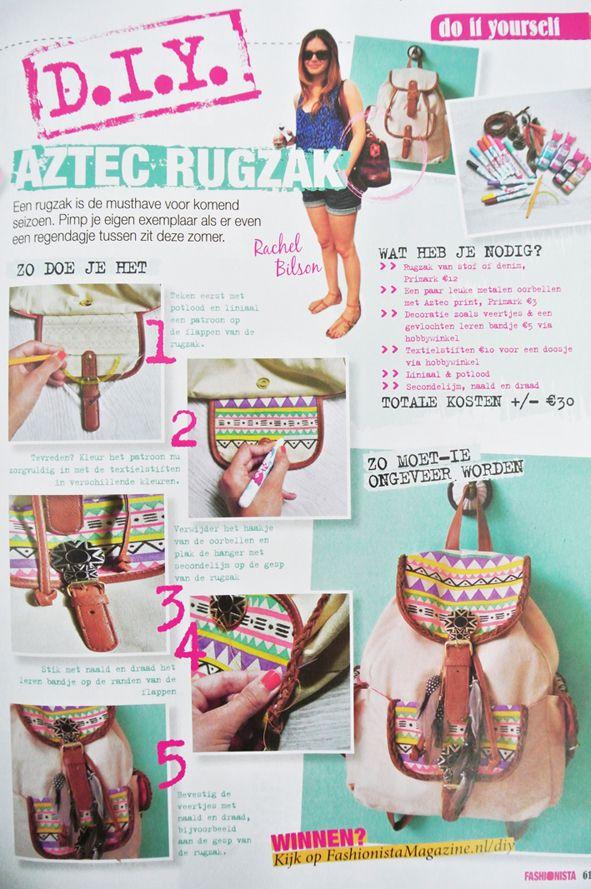My Attic, DIY Aztec bag