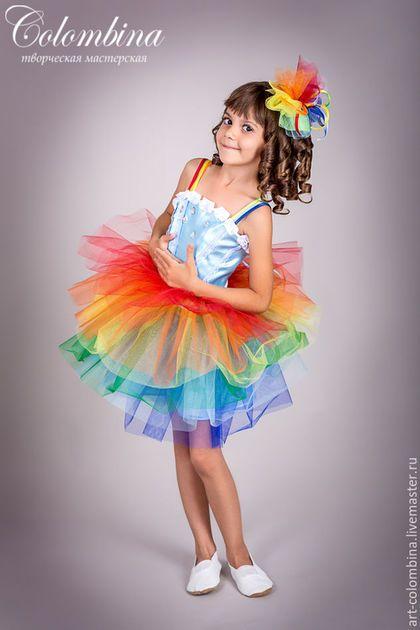 Детские карнавальные костюмы ручной работы. Ярмарка Мастеров - ручная работа. Купить Костюм радуги. Handmade. Разноцветный, радуга