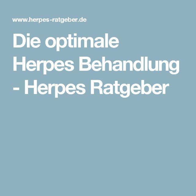 Die optimale Herpes Behandlung - Herpes Ratgeber
