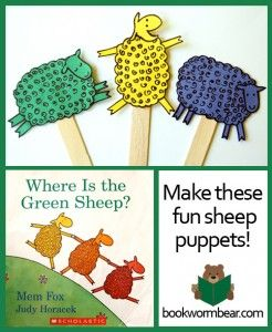 Make Fun Sheep Puppets – Art Project for Where is the Green Sheep.  This is a…