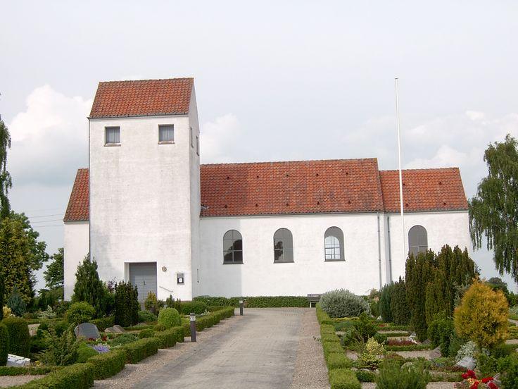 Aunsoe Church, Aunsø Kirke, Svebølle, Denmark. Photo: Kurt Thorleif Jensen.