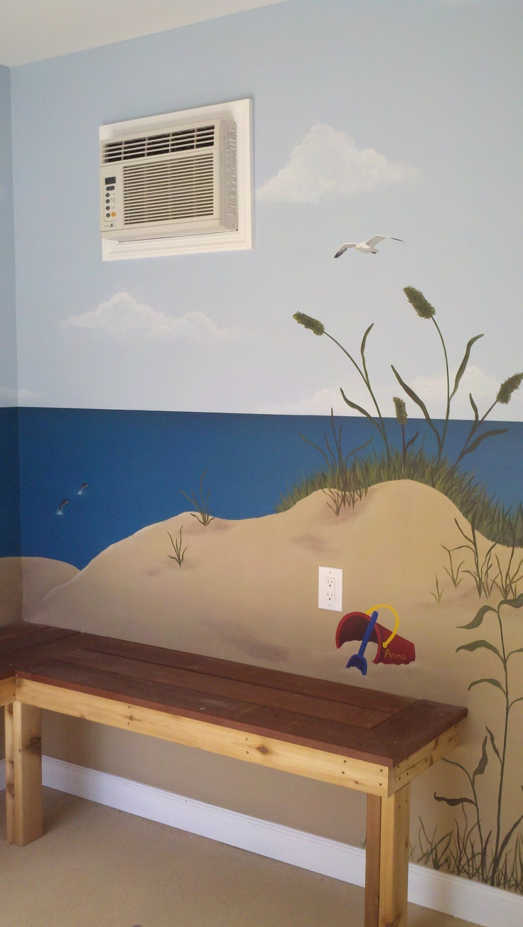 29 best beach murals images on pinterest beach mural for Beach mural painting