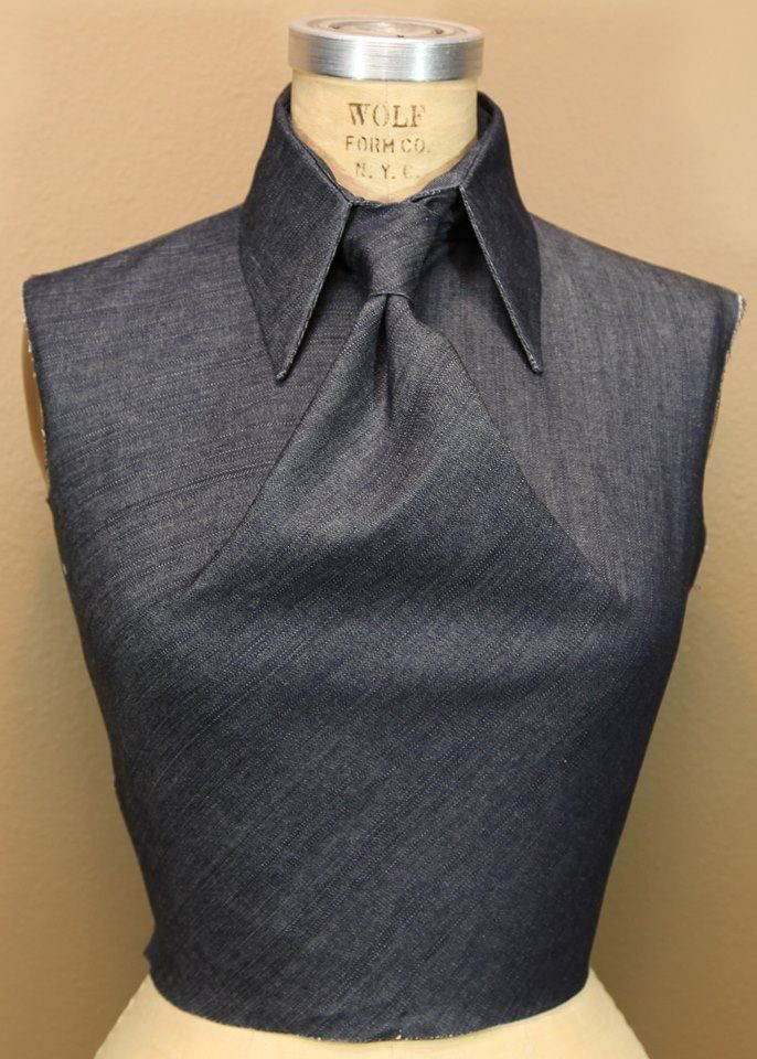 Cool. Dart manipulation into a tie. No source of image.