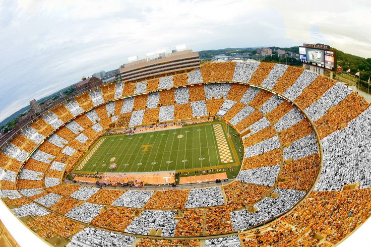 October 2014. When FL vs TN played. Tennessee became the number #1 greatest Fan base by doing checkerboard Tennessee in Neyland stadium in all of college football, according to USA today, wall street journal, and Ncaa football committee Go Vols
