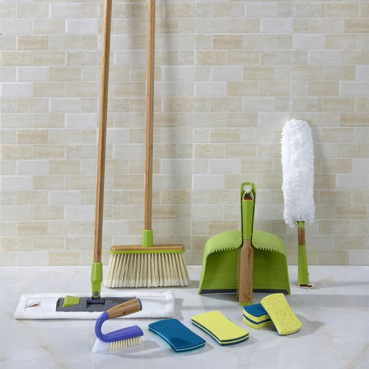 From this easy-to-maneuver mop and broom duo to sponges, scrubbers, and dusters designed for every nook, cranny, and last-minute mess, there's no speck or spot that this set can't spiff. Features: Easy-to-handle mop, broom, and handheld scrubbers Wet, dry, and dusting tools to cleanse every surface type with ease Includes: 1 Mighty Mop 3 Refresh scrubber sponges 2 Stretch counter scrubbers 1 Grunge Buster grout & tile brush 1 Clean Sweep broom 1 Clean Team brush & dustpan s...
