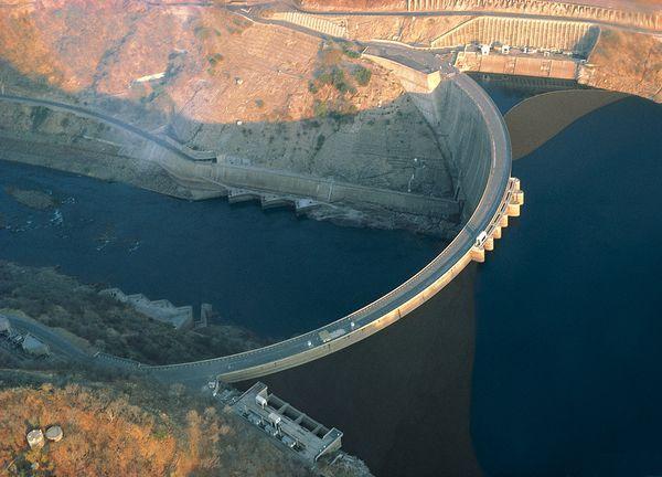 Kariba dam in Zimbabwe