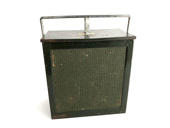 Kary Kold Metal And Fiberboard Cooler Vintage Cooler Camping Cooler Industrial Decor Ice