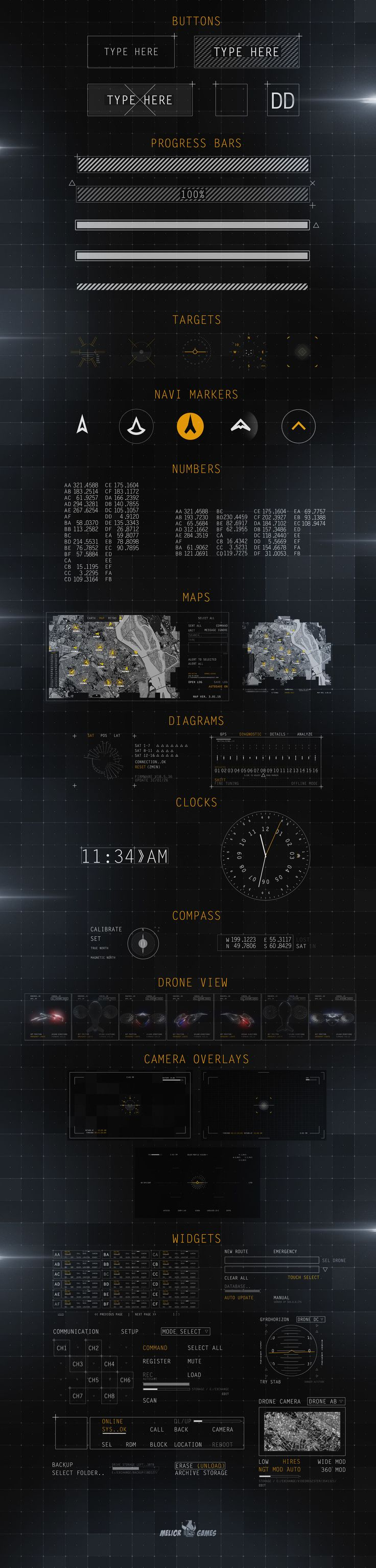The Military Interface project, made in Adobe #AfterEffects http://videohive.net/item/hud-military-interface-project/12586082?ref=designmedosadvert