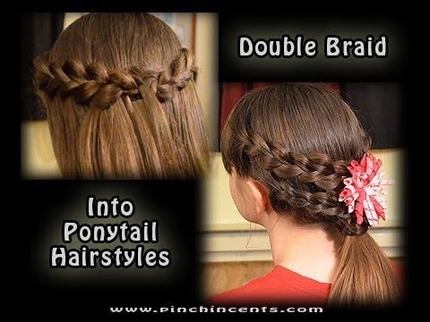 Double Braided Ponytail Hairstyles