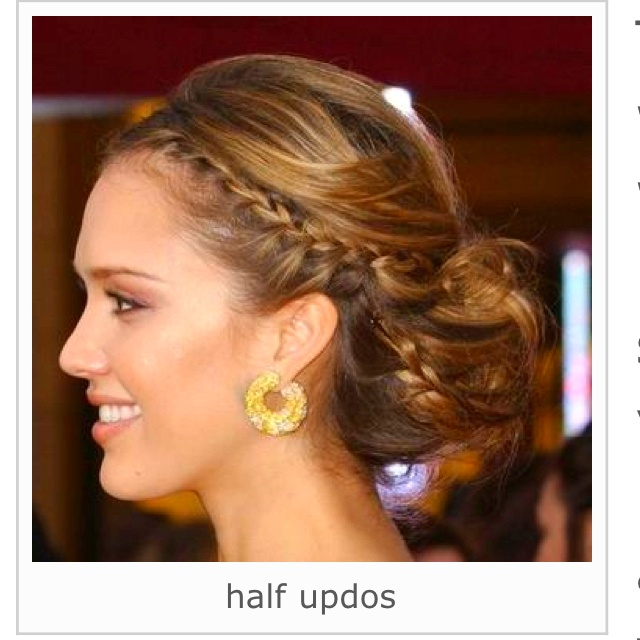 Jessica Alba Updo Hairstyles With Braids