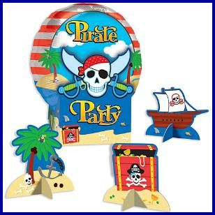 Pirate Balloon Centerpiece, $6.59 Cdn set/4.