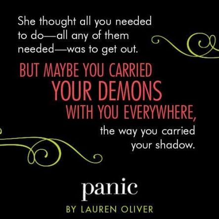 Quote #1 from PANIC by Lauren Oliver