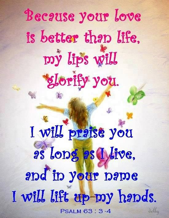 I WILL PRAISE YOU AS LONG AS I LIVE!