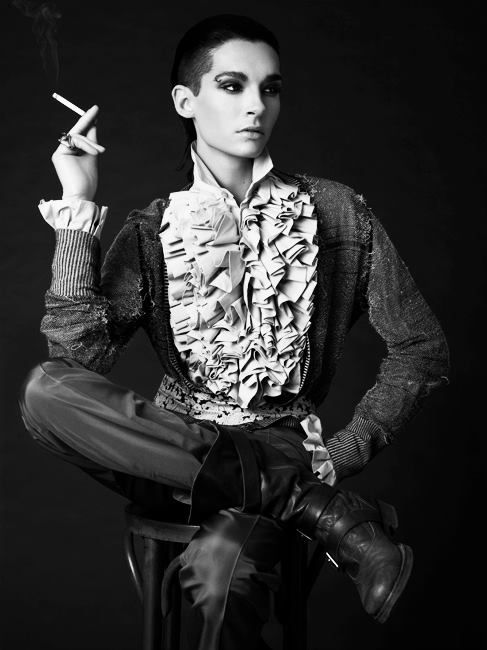 The utterly divine Bill Kaulitz - not even changing what Metonym captioned this