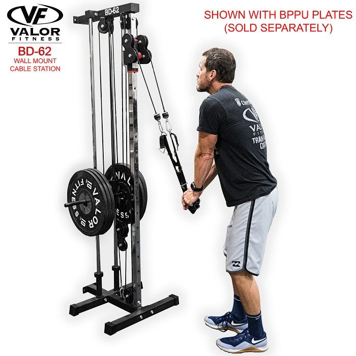 Valor Fitness Cable Machines Valor Fitness Wall Mount Cable Station Bd 62 Home Gym Equipment At Home Gym Diy Workout