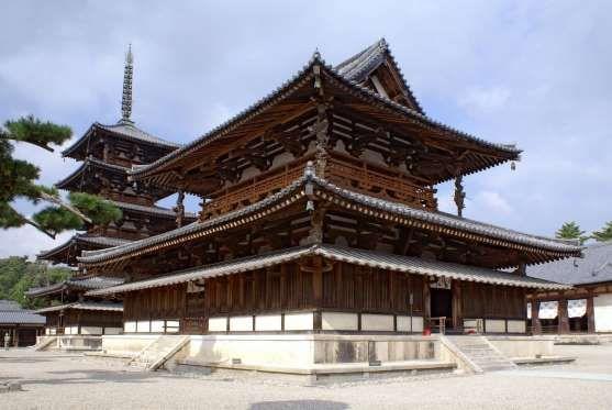 Vista do templo Horyu-ji, no Japão (foto: Wikimedia/Skyscanner) - Fornecido por Viagem em Pauta