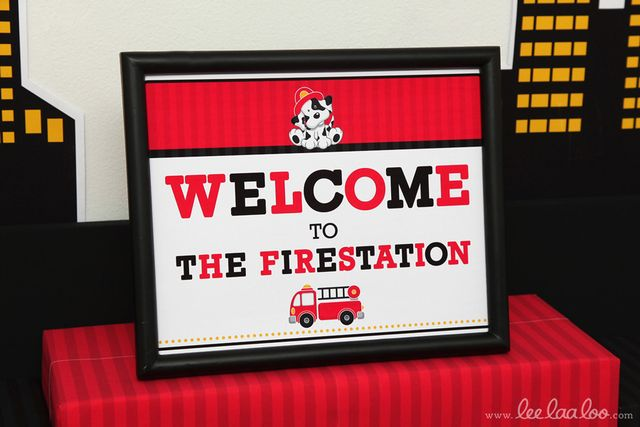 Fireman Birthday Party | CatchMyParty.com