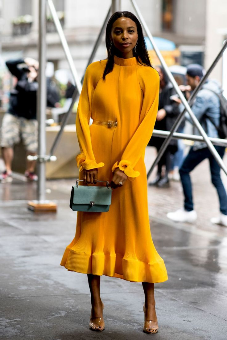 Lace dress bell sleeves june 2019 The Best Street Style Looks From New York Fashion Week Spring
