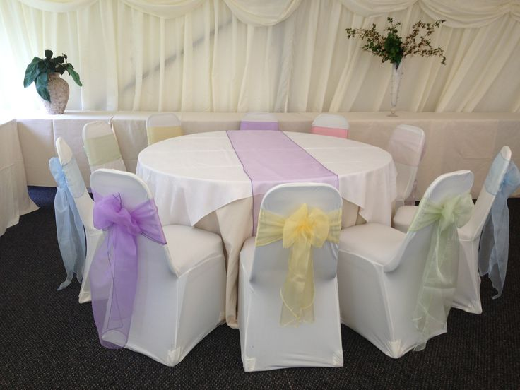 Pastel organza sashes & runners x