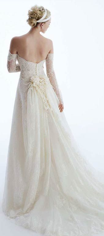 Love the back of this - the lace rose is lovely