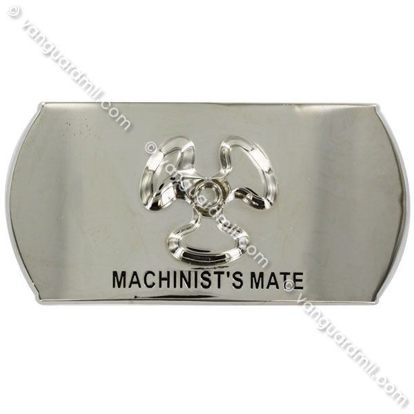 Navy Enlisted Specialty Belt Buckle: Machinist's Mate: MM