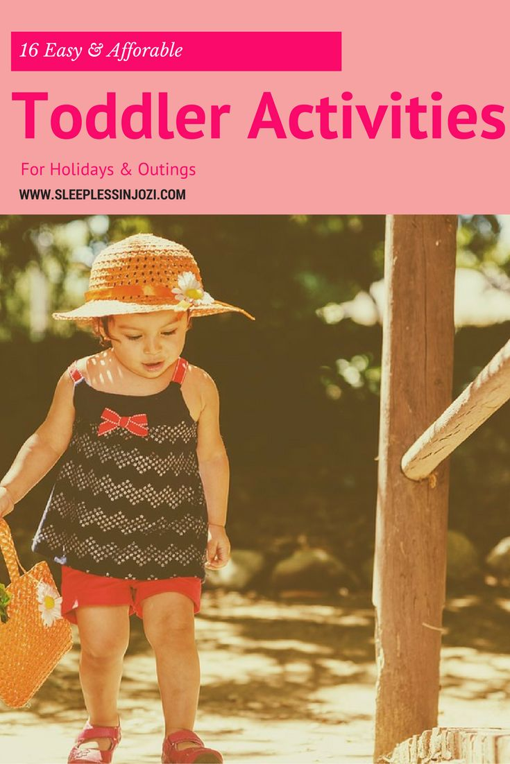 16 easy & affordable toddler activities for holidays & outings. How to entertain your child while on-the-go.