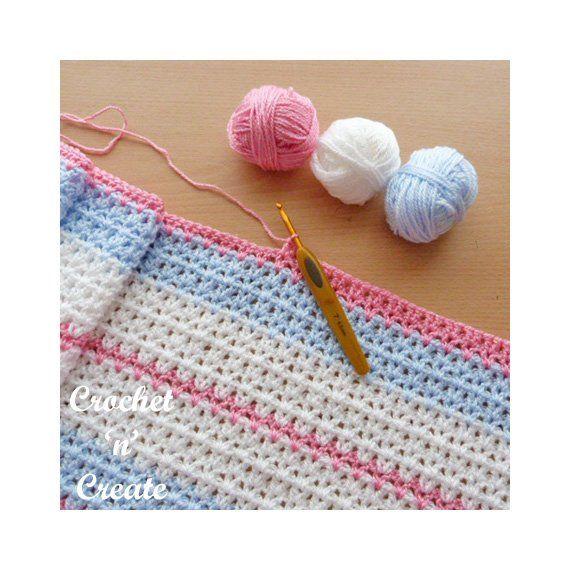 Crochet Butterfly Baby Blanket Crochet Pattern (DOWNLOAD) CNC135